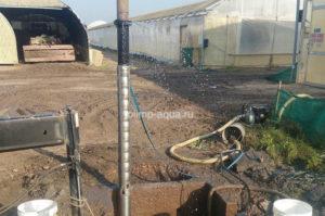 Замена насоса в промышленной скважине на воду