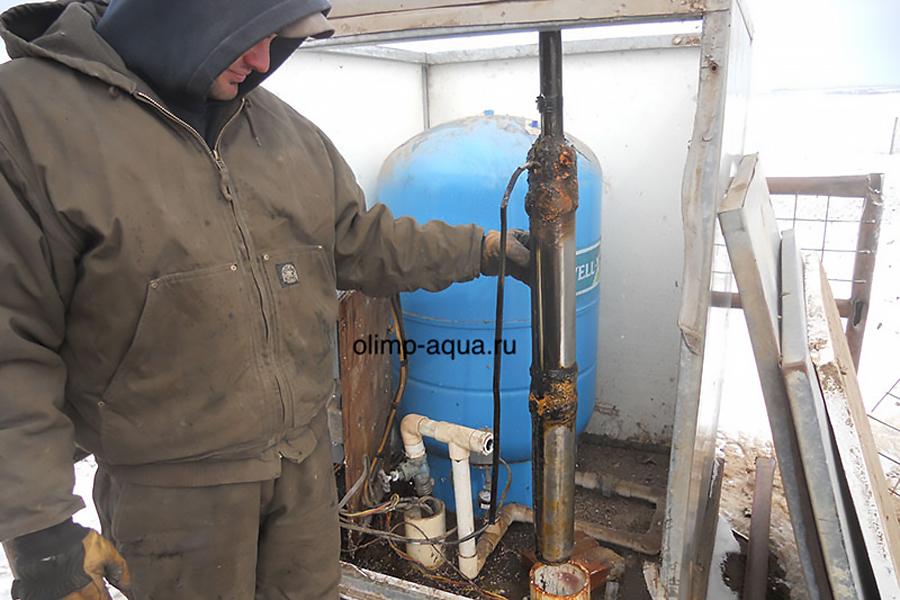 Ремонт и обслуживание частной скважины в Электрогорске